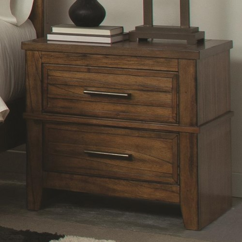 Coaster Cupertino Two-Drawer Night Stand w/ Cord Access