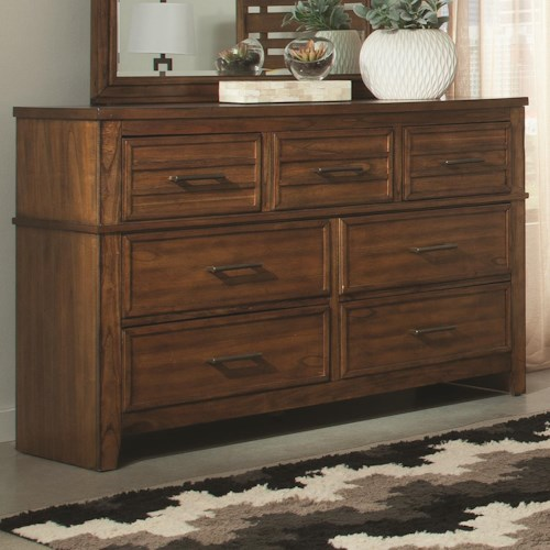 Coaster Cupertino Low Dresser w/ Seven Drawer