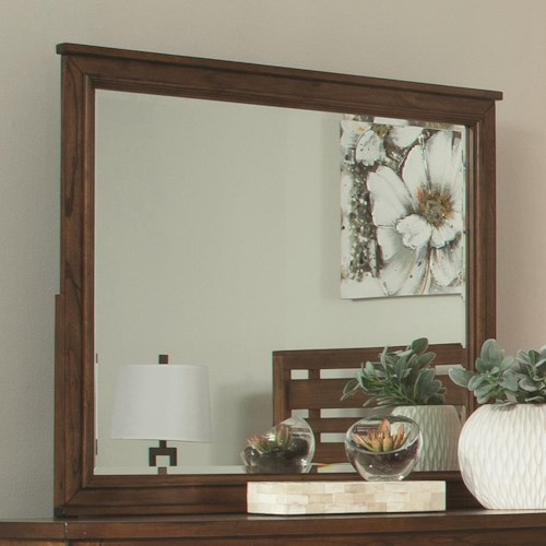 Coaster Cupertino Landscape Mirror w/ Wood Frame