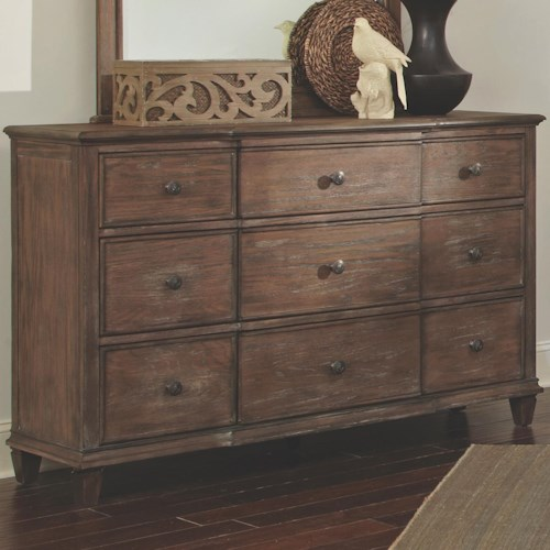 Coaster Dalgarno Dresser with 9 Drawers and Tapered Feet