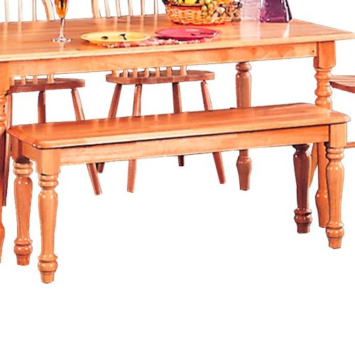 Coaster Damen Traditional Wood Dining Bench