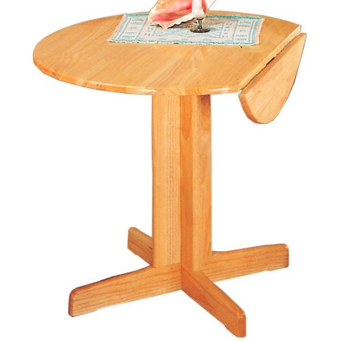 Coaster Damen Round Pedestal Table with Leaf