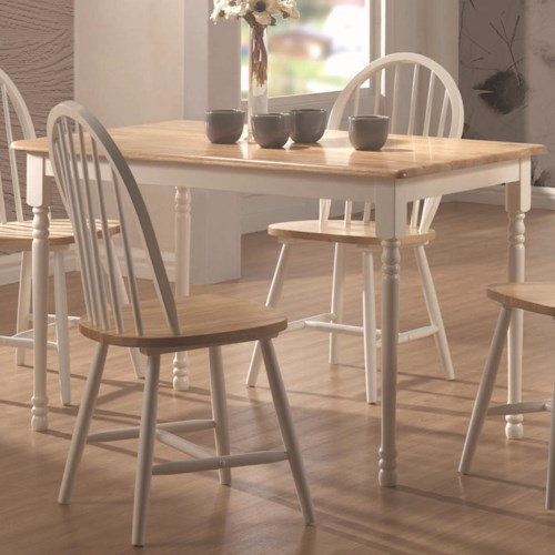 Coaster Damen Rectangle Leg Dining Table