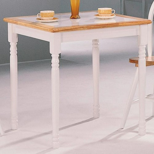 Coaster Damen Square Tile Top Casual Dining Table