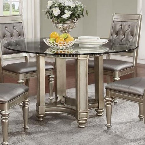 Coaster Danette Circular Glass Dining Table