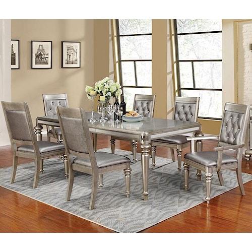 Coaster Danette Rectangular Dining Table Set with Leaf