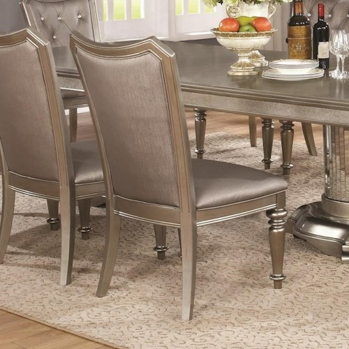 Coaster Danette - -181734809 Upholstered Side Chair with Turned Front Legs