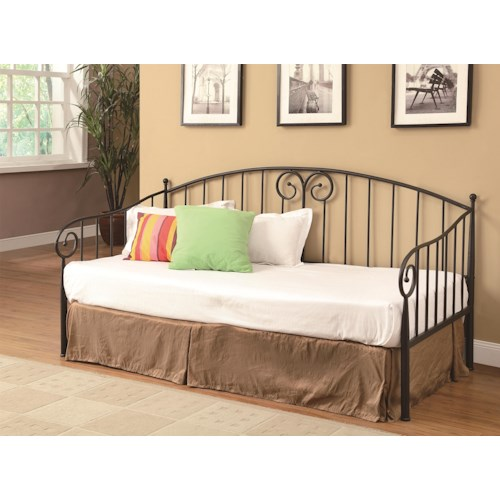 Coaster Daybeds by Coaster Casual Dark Bronze Metal Daybed