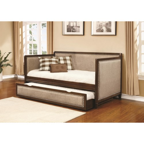 Coaster Daybeds by Coaster Traditional Daybed with Upholstered Sides