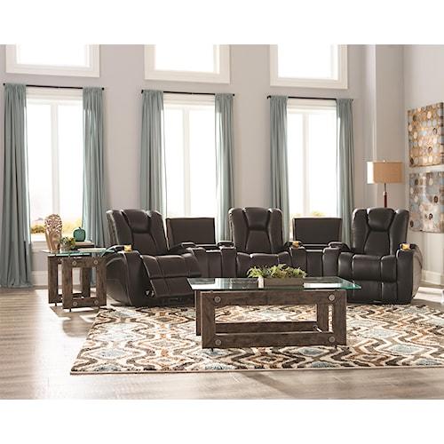Coaster Delange Reclining Living Room Group