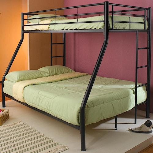 Coaster Denley Metal Twin over Full Bunk Bed