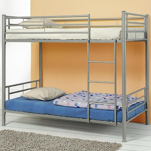Coaster Denley Metal Twin over Twin Bunk Bed
