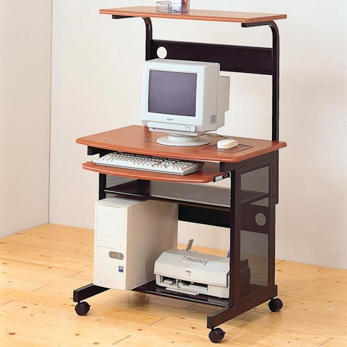 Coaster Desks Casual Contemporary Computer Unit with Computer Storage and Casters