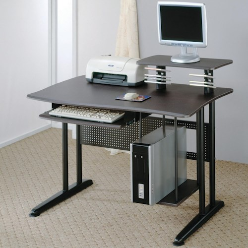 Coaster Desks Contemporary Computer Desk with Keyboard Tray and Computer Storage