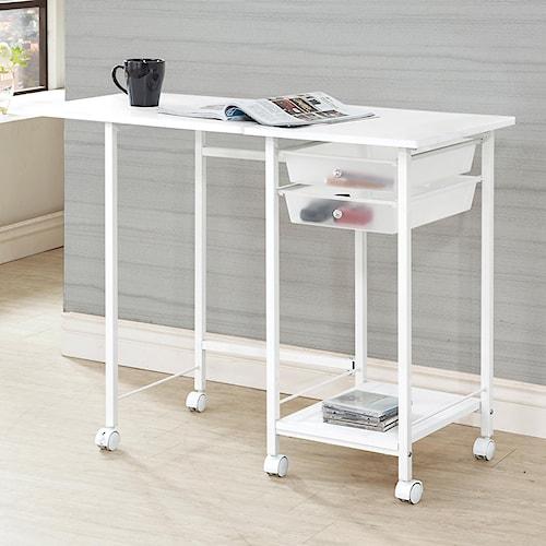 Coaster Desks Folding Desk with Casters