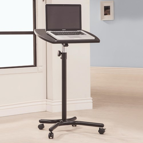 Coaster Desks Laptop Stand with Casters
