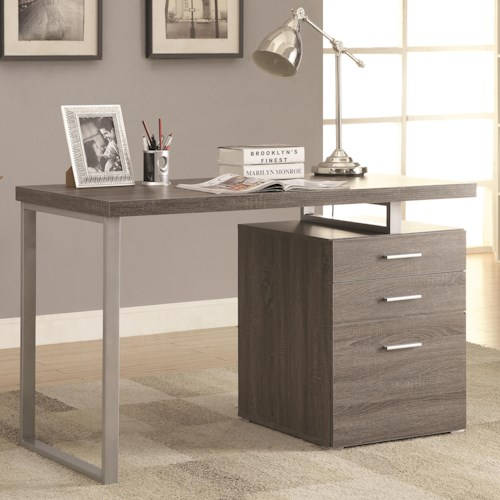 Coaster Desks Writing Desk with File Drawer and Reversible Set-Up