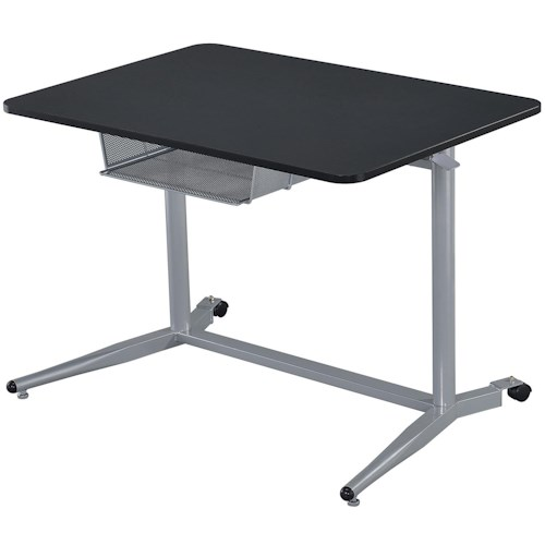 Coaster Desks Height Adjustable Standing Desk with Storage Compartment