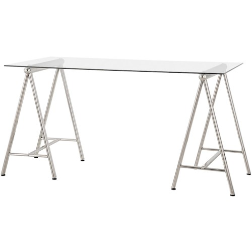 Coaster Desks Writing Desk with Tempered Glass Top