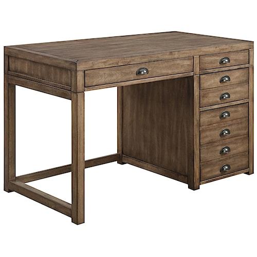 Coaster Desks Single Pedestal Desk with File Drawer