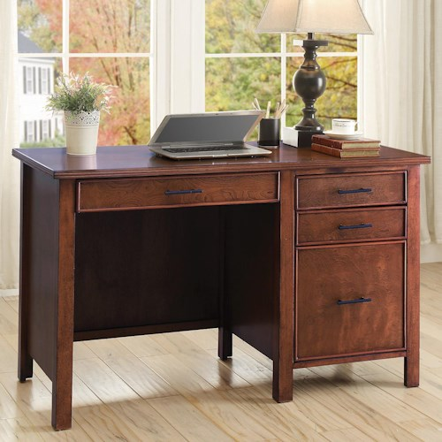 Coaster Desks Writing Desk with File Drawer and Outlet