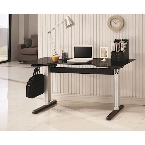 Coaster Desks Adjustable Height Desk for Seated or Standing Use
