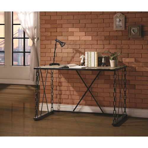 Coaster Desks Writing Desk with Chain Link Legs