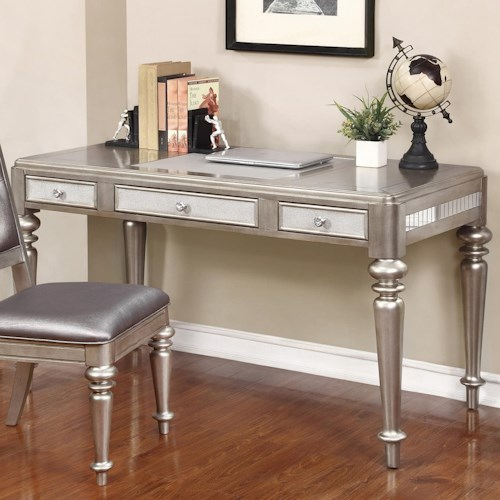 Coaster Desks Writing Desk with Leatherette Drawer Fronts