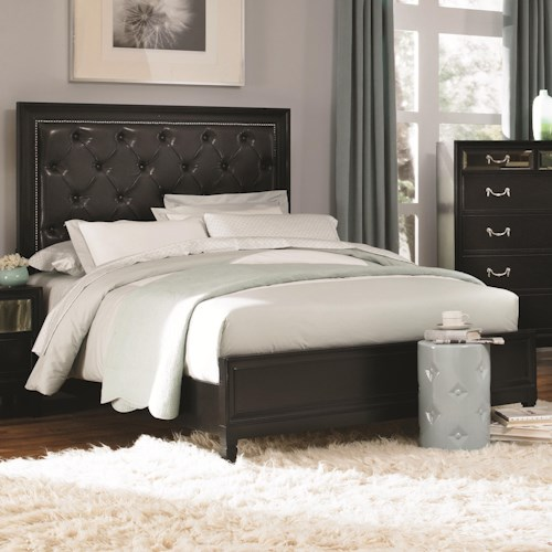 Coaster Devine King Bed with Button Tufted Headboard