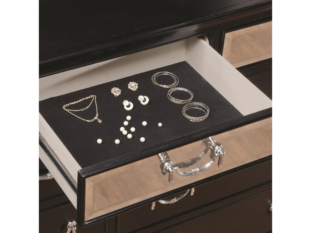 Top Dresser Drawer Felt-Lined for Protecting Your Valuable Items