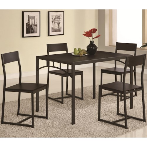 Coaster Dinettes Chic 5 Piece Dining Set
