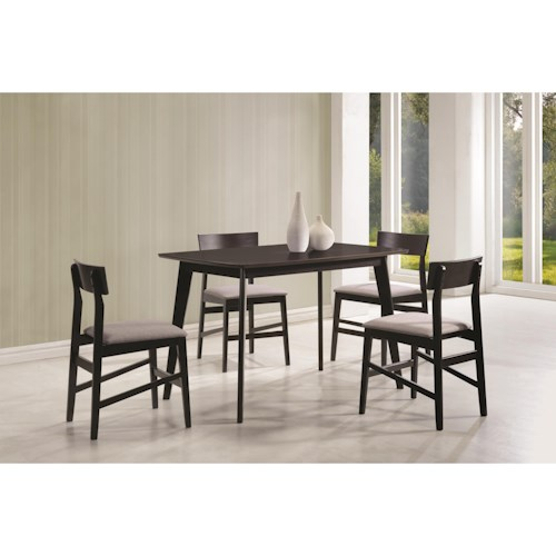 Coaster Dinettes Contemporary 5 Piece Dining Set