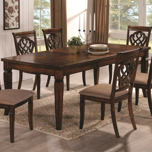 Coaster Dining 10339 Rectangular Dining Table with 18