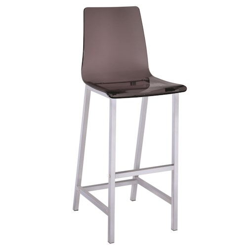 Coaster Dining Chairs and Bar Stools Acrylic Bar Height Stool with Chrome Base