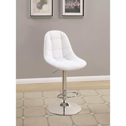 Coaster Dining Chairs and Bar Stools Upholstered Adjustable Height Bar Stool