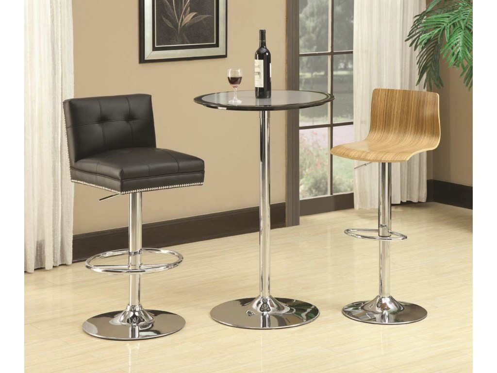 Shown with Metal Barstool