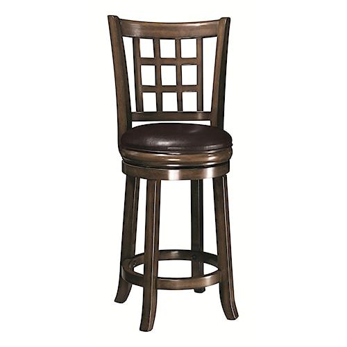 "Coaster Dining Chairs and Bar Stools 24""H Swivel Bar Stool"