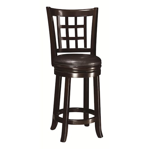 "Coaster Dining Chairs and Bar Stools 24""H Swivel Bar Stool"