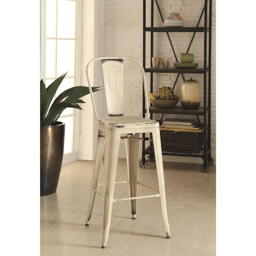 Coaster Dining Chairs and Bar Stools Galvanized Metal Bar Stool