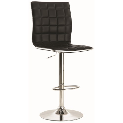 Coaster Dining Chairs and Bar Stools Adjustable Waffle Bar Stool with Footrest