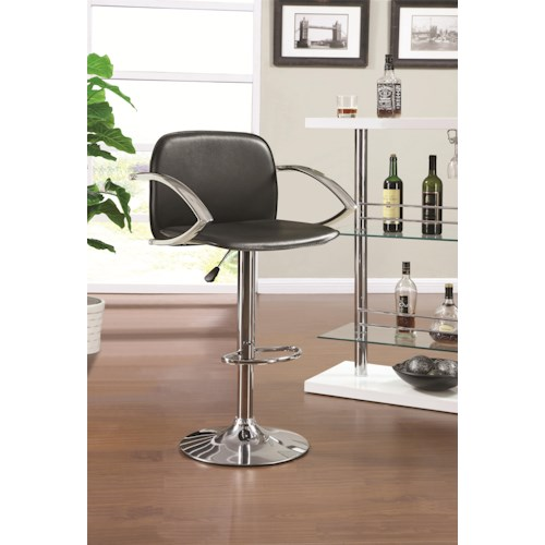 Coaster Dining Chairs and Bar Stools Contemporary Adjustable Bar Stool