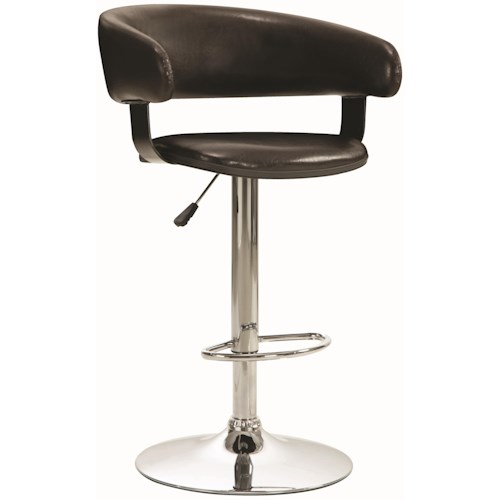 Coaster Dining Chairs and Bar Stools Adjustable Rounded Back Bar Stool