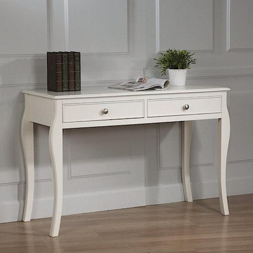 Coaster Dominique Table Desk w/ 2 Drawers