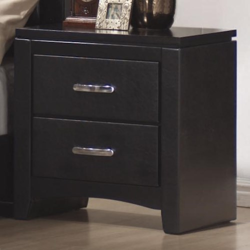 Coaster Dylan Faux Leather 2 Drawer Nightstand