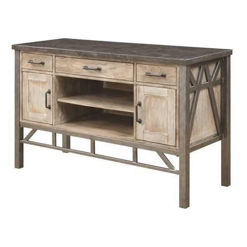 Coaster Edmonton Dining Server with Three Drawers and Two Doors