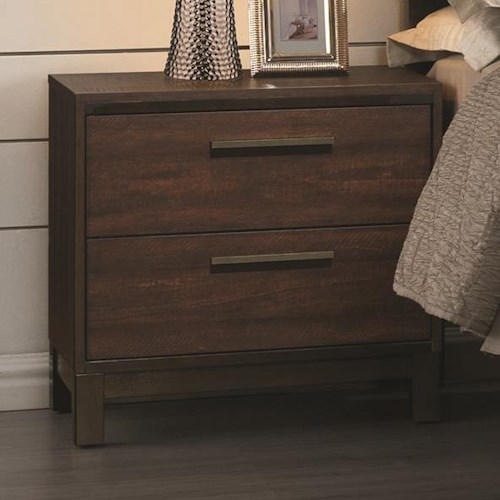 Coaster Edmonton Nightstand with Two Dovetail Drawers