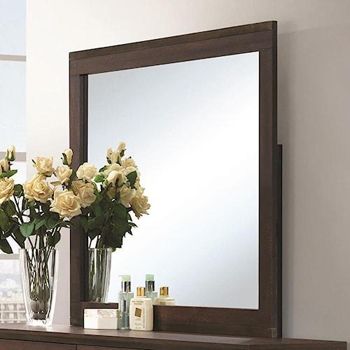 Coaster Edmonton Mirror with Wood Frame