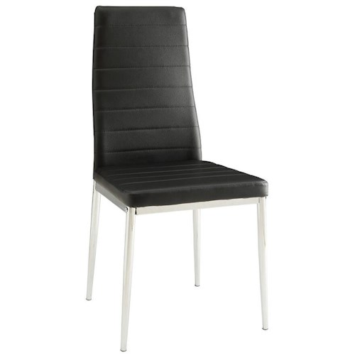 Coaster Eldridge Upholstered Contemporary Side Chair