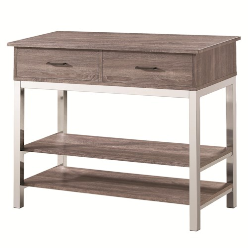 Coaster Eldridge Contemporary Server with 2 Drawers and 2 Shelves