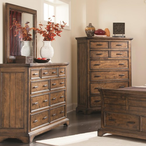 Coaster Elk Grove Dresser and Mirror Set with 9 Drawers